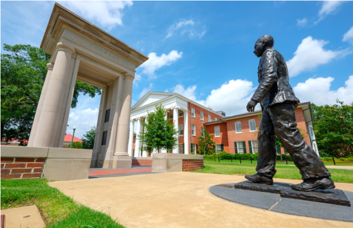 James Meredith Statue in front of Lyceum