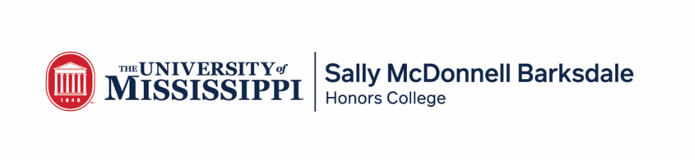 Sally McDonnell Barksdale Honors College, The University of Mississippi Logo
